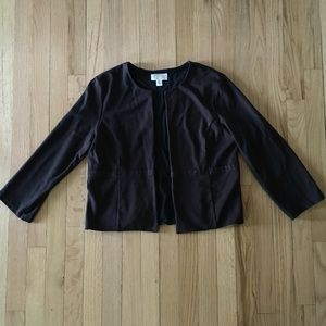 Talbots Black Open Jacket Size 12
